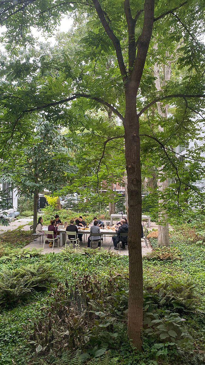 Dinner in the Forest Garden, a performative event by Niina Tervo and Youngeun Sohn, part of the Environmental Identities series, curated by Bruno Alves de Almeida. Photo: Bruno Alves de Almeida
